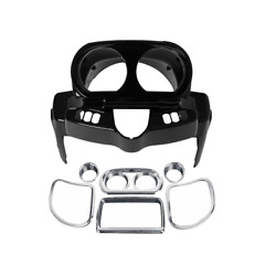 Instrument Housing And Speedometer Trim Kit Fit For Harley Road Glide 15-21 Black
