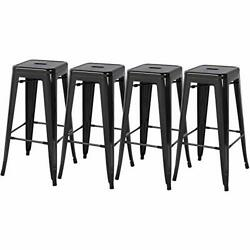 Topeakmart 30inch High Metal Bar Stools Backless Indoor-outdoor Use Counter H...