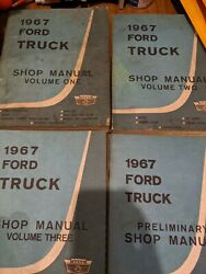 1967 Ford Truck Shop Manuals Three Volumes And Preliminary