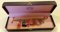 Juicy Couture🎀charm Bracelet With 5 Rare And Limited Edition Food Charms🎀mint