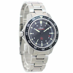 Sinn 603.ezm3 Automatic Date Ss Black 41mm Menand039s Military Watch With Warranty