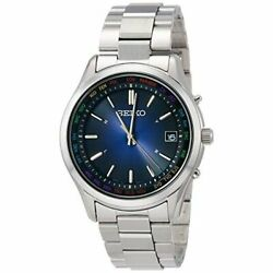 Seiko Selection Watch Menand039s Sbtm279 Silver Blue Analog Round Face Waterproof