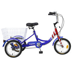 New 14and039and039 Tricycle Kids Trike Ages 6-12 Outdoor Bike 3wheel Bicycle W/shop Basket