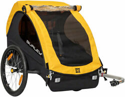 Burley Bee Child Trailer Yellow 20 Push Button Wheels 100 Lb Weight Limit