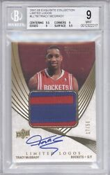 Tracy Mcgrady Bgs 9 2007-08 Ud Exquisite Limited Logos Jersey Patch Auto 17/50andnbsp