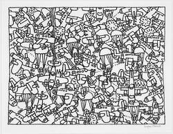 Seymour Chwast Busy Sky Marker On Paper