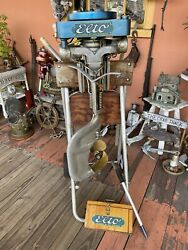 1926 Elto Ole Evinrude Light Twin Outboard Boat Motor With Wooden Box Vintage