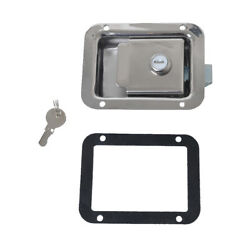 Stainless Steel Boat Door Trailer Toolbox Rv Paddle Slam Latch With Lock - Flush