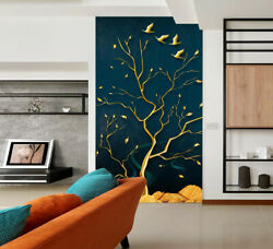 3d Golden Branches Zhua16009 Wallpaper Wall Murals Removable Self-adhesive Amy