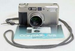 Contax Tvs 35mm Point-and-shoot Zoom Camera W/ Hood And Filter - Must See 4889