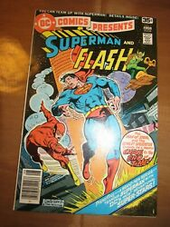 Dc Comics Presents Superman And Flash 1 9.0 Race Newsstand Bronze Age White Pages