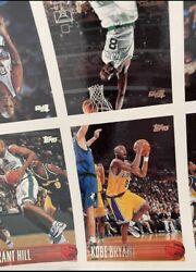Very Rare 1996-97 Topps Uncut Sheet Complete Set W/ Kobe And Iverson Rookie Cards