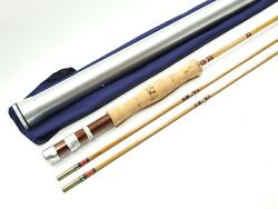 Vintage Herters Bamboo Fly Fishing Rod. 8and039 6wt. Made In England.