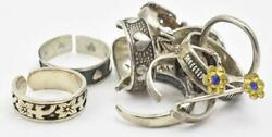 10 Different Design And Sizes Sterling Silver Toe Rings 925 Guaranteed