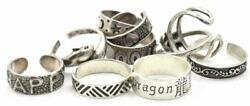 10 Different Designs, Sizes Sterling Silver Toe Rings 925 - Hearts, Asian, Love