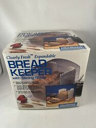 Clearly Fresh Expandable Bread Keeper W/ Slicing Guide By Progressive New