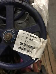 Nibco F-669 4 In. Cast Iron Full Port Flanged Gate Valve Part Nf669p