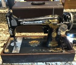 Antique 1906 Model 27 Singer Sewing Machine Phoenix Sphinx Electric Tested Nice