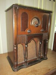 2 Speaker Edison Bell Deco Tombstone Radio Maynot Be Fully Functional Parts Only