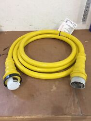 125/250v 50a X 15and039 Boat Shore Power Electrical Cord Used
