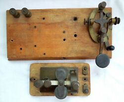 J H Bunnell Soo Line Marked Telegraph Key And Sounder Rare Free Shipping