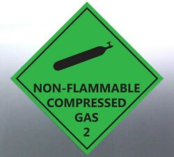 4x15cm Non-flammable Compressed Gas Decal Safety Material Signage Sticker Bottle