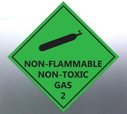 4x22cm Non-flammable Non-toxic Gas 2 Decal Safe Material Signage Sticker Bottle