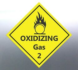 4x22cm Oxidizing Gas Class 2 Decal Safety Material Signage Sticker Bottle Agent