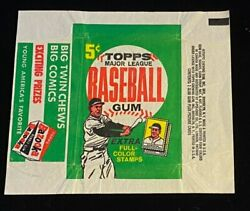 1962 Topps Baseball 5 Cent Wax Pack Empty Wrapper Exmt Nice 2887