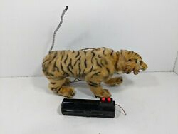 Vintage Marx Bengali Battery Operated Tiger Toy For Parts Or Restoration