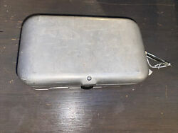 Vintage Etched Fly Fishing Metal Tackle Box Small Inserts Fly Lot Meadow Brook