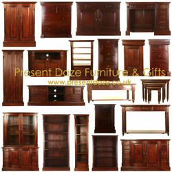 La Roque Solid Mahogany Living And Home Office Range - Free Mainland Uk Delivery