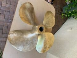 Propeller From 59' Boat, 31.5 Inches X 35 Pitch, Bronze 4 Blade, Rh Nibral