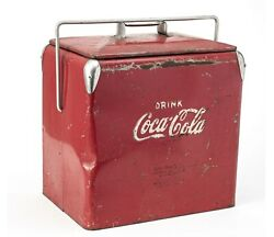 Vintage Coca-cola Top Lid Cooler Red Coke Drink Pop Soda Large Heavy Collectible