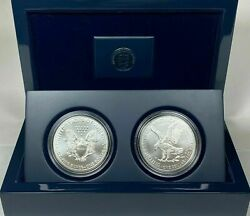2021 American Silver Eagle Type 1 And 2 Set In A Us Mint Display Case Bu Buy Now A