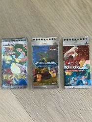 3x New Pokemon Booster Sealed 1st Edition Adv Ex Dragon Japan Rare Unweighed