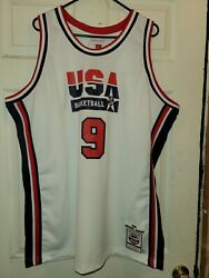 Authentic Michael Jordan 9 Mitchell And Ness 1992 Dream Team Jersey Size 52 2xl