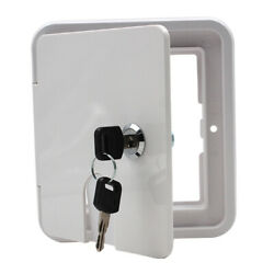 Electric Power Cable Hatch Square Cover 2 Lock Keys Fit For Rv Camper Trailer