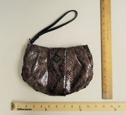 Vera Wang Brown And Red Wine Bag Tote Wristlet Wallet Purse - Flash Sale
