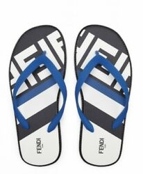 Fendi Rubber Flip Flops Thongs Sandals Size Us 11 Made In Italy