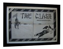The Clash+give Enough Rope+tour+poster+ad+original 1978+framed+fast Global Ship