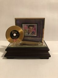 Elvis Presley 29cent Postage Stamp And Story Standing Placard Music Box