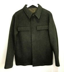Bnwt Holland And Holland Men's Pea Coat Green Loden Wool Shirt Jacket M New £990