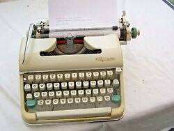 Vintage 1962 Typewriter Olympia Sm5 Serviced With New Ribbon