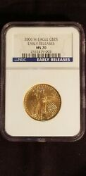 2006 W 25 Gold Eagle Ms70 Burnished Early Releases