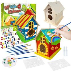 Birdhouse Wooden Hanging Kits Ages 5+ Kids-diy Arts And Crafts 3 Sets All In One