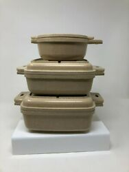 Littonware Microwave Cookware Dishes- Lot 6 Pcs Vtg Pre Owned