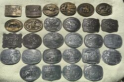 1975-2013 Hesston National Finals Rodeo Belt Buckles Collection Of 41 Total