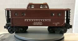 Lionel Maroon Caboose Pennsylvania 536417 New York Zone Blt 2 53 N5c Great Cond.