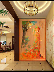 3d Woman Oil Painting Zhu3461 Wallpaper Wall Mural Removable Self-adhesive Zoe